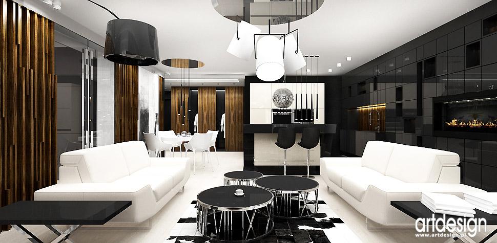 projekty wnętrz kuchnia otwarta salon