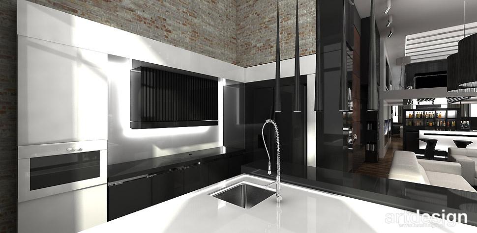 VISIBLY ASSURED  Apartament  W2  Projektowanie wnętrz   # Kuchnia Z Cegly