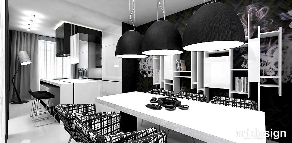 projekty wnętrz kuchnia jadalnia