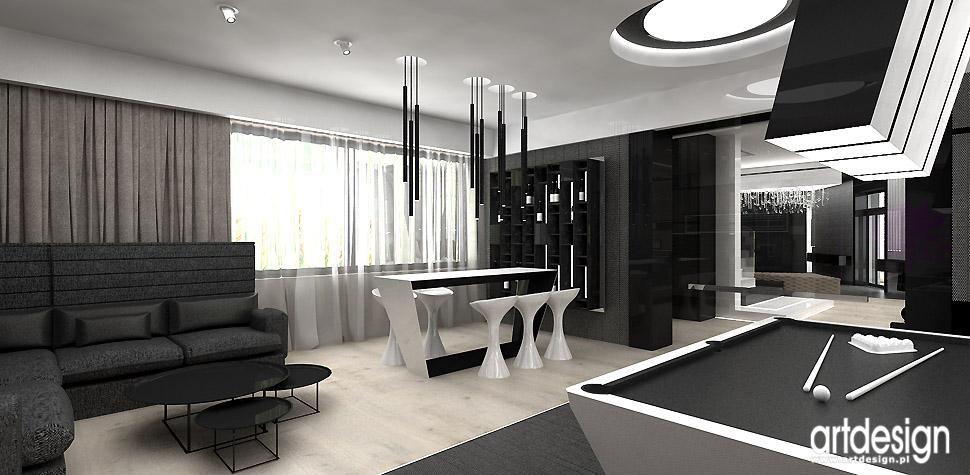 pokój gier luksusowe wnętrza