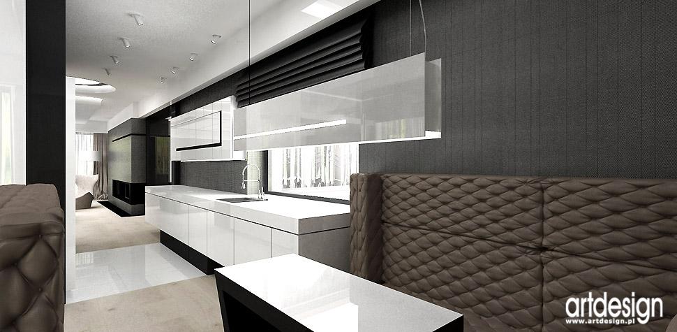 biała luksusowa kuchnia projekty