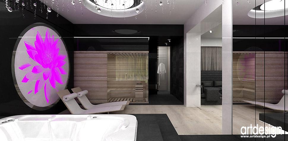 aranżacje wnetrz sauna w domu design