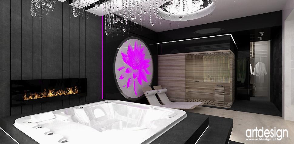 luksusowe domowe spa jacuzzi projekty