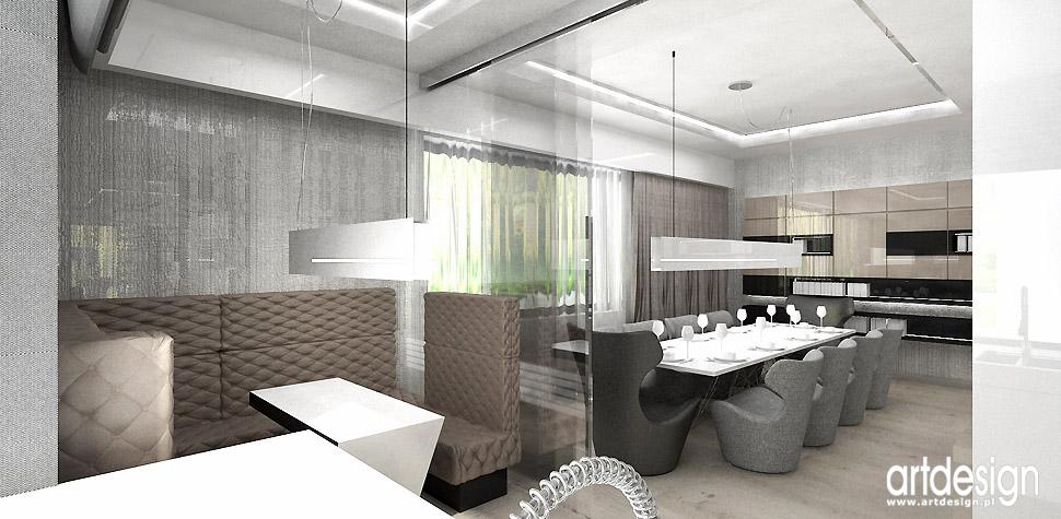 jadalnia z kuchnia wnętrza projektowanie