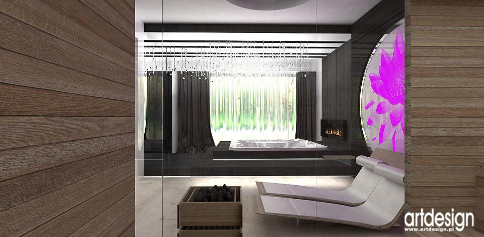 sauna wnętrza dom architekci