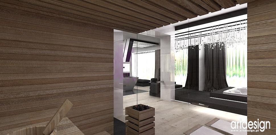ekskluzywne wnętrza sauna sucha parowa design spa