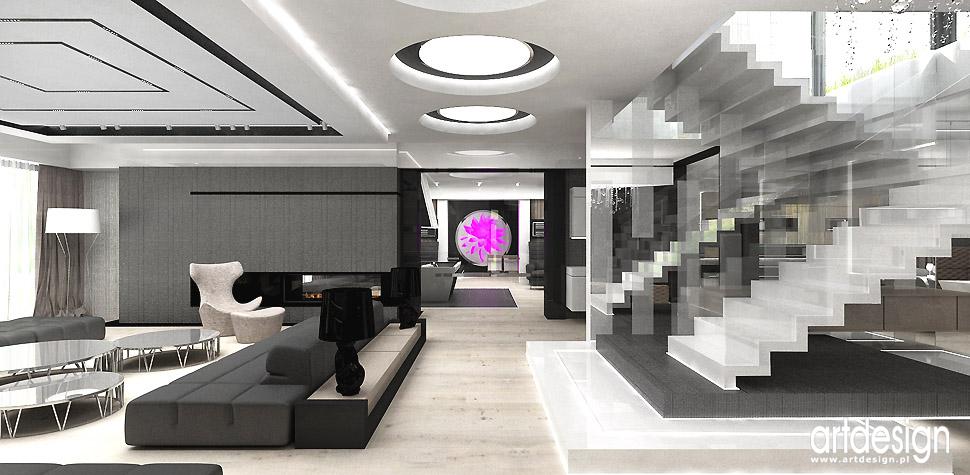 luksusowe wnętrza schody dywanowe projekt