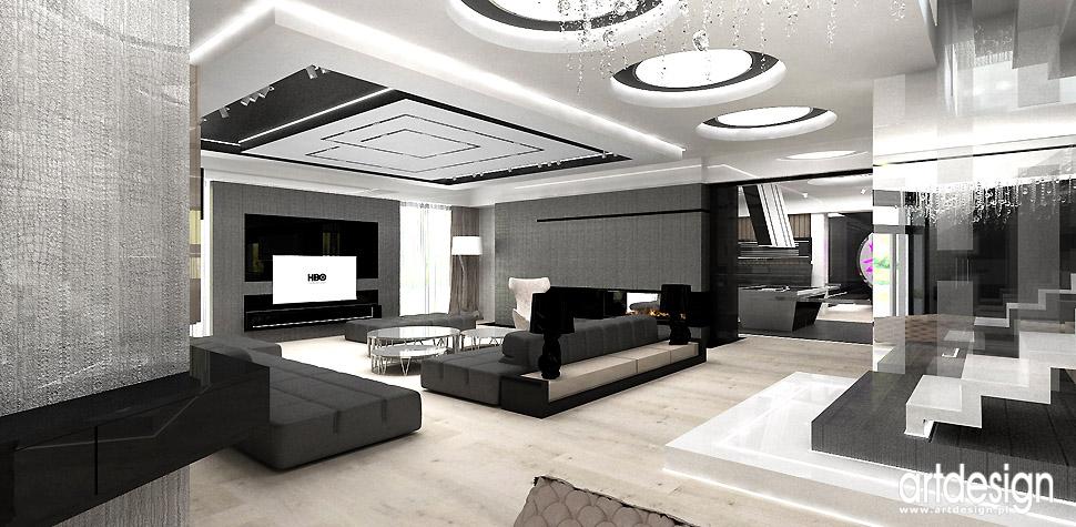 salon luksusowy dom wnętrza