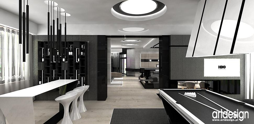 nowoczesne domy wnętrza aranżacja