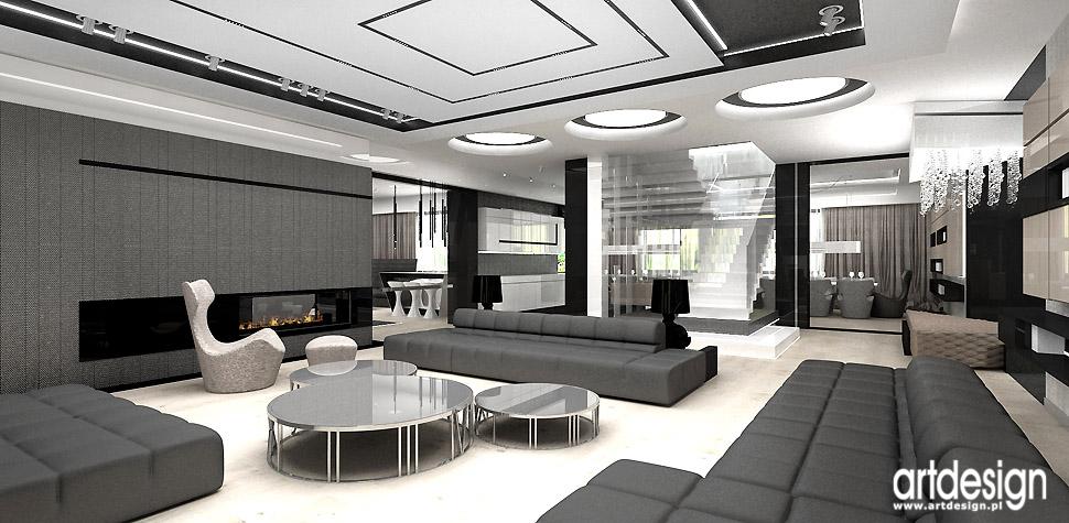 salon szare wnętrza design