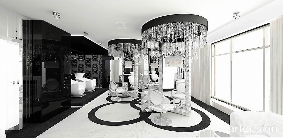 biało-czarny salon kosmetyczny