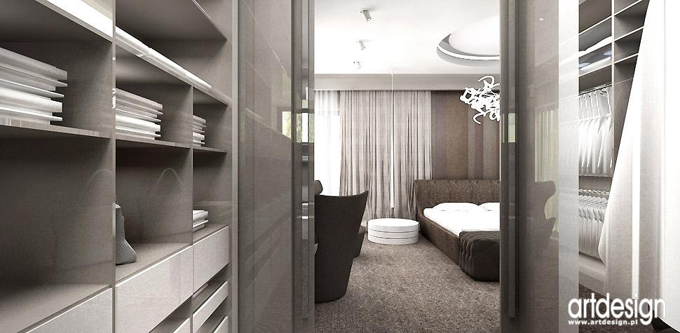 sypialnia z garderobą łazienka wnętrza