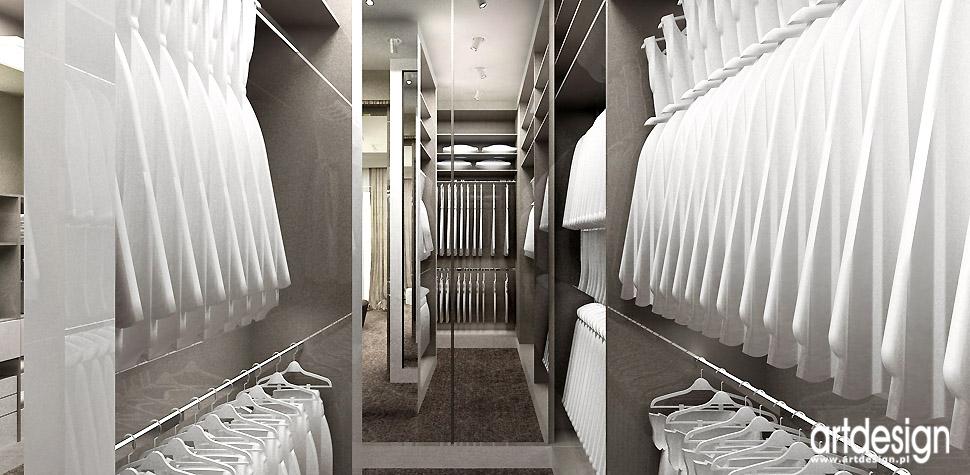 garderoba przy sypialni projekty