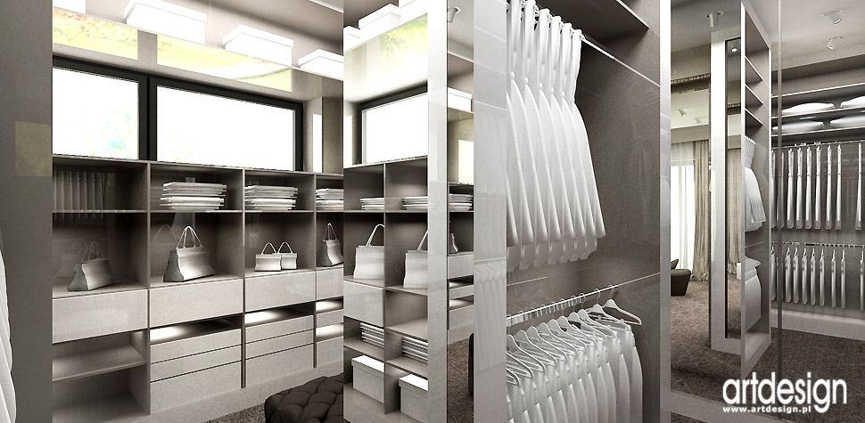 luksusowe wnętrza dom garderoba