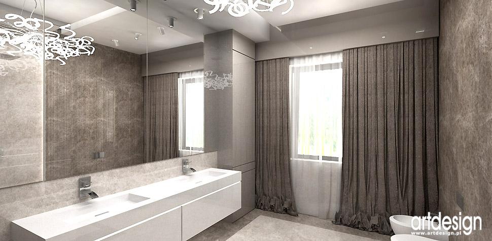 beżowa łazienka oryginalne wnętrza