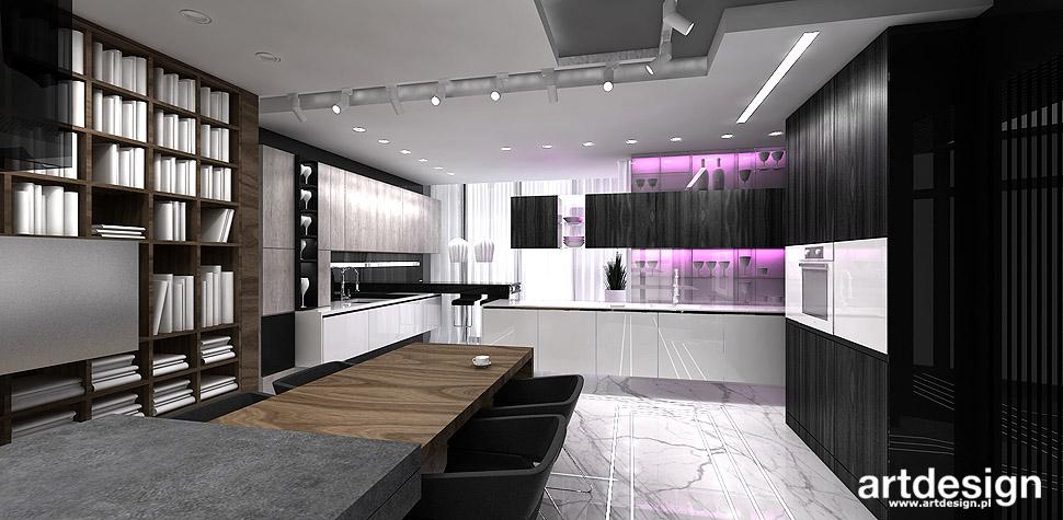 czarna kuchnia projekt