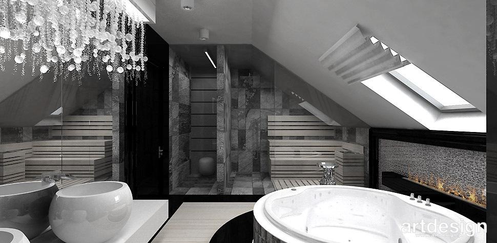 kominek w łazience aranżacja