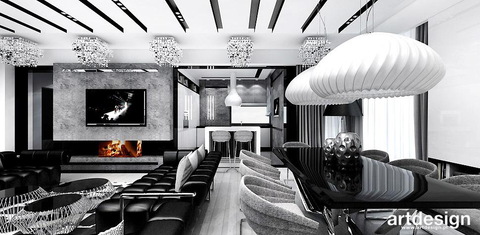 czarno-białe wnętrza domu