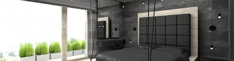 design wnętrze sypialnia