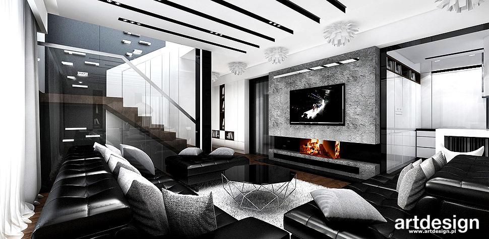 nowoczesne wnętrza projekt salonu