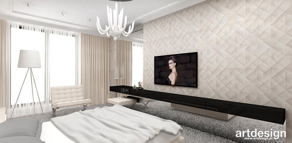 sciana pikowana sypialnia