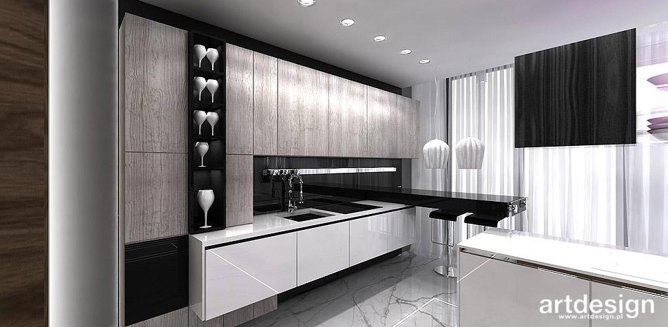 kuchnie postarzane loftowe projekty