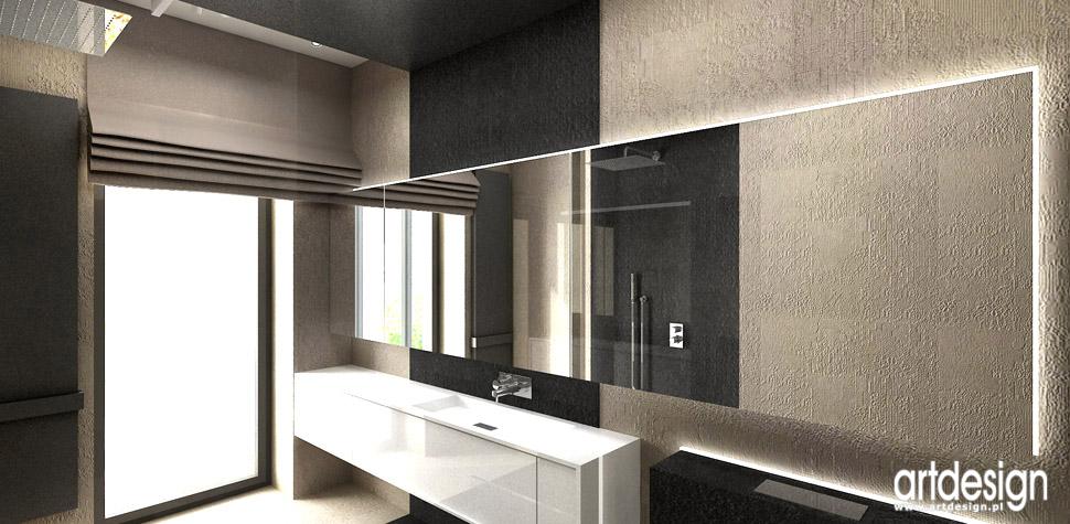 aranżacje nowoczesne domy łazienki