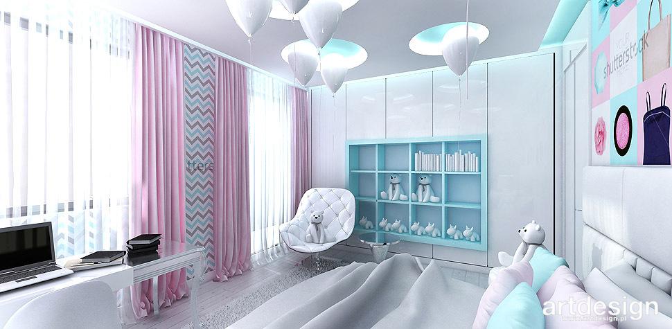 kolorowy pokój dla dziewczynki wnętrza