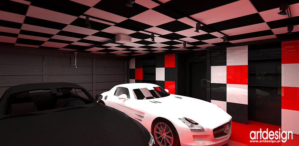 architekci wnętrz designerski garaż