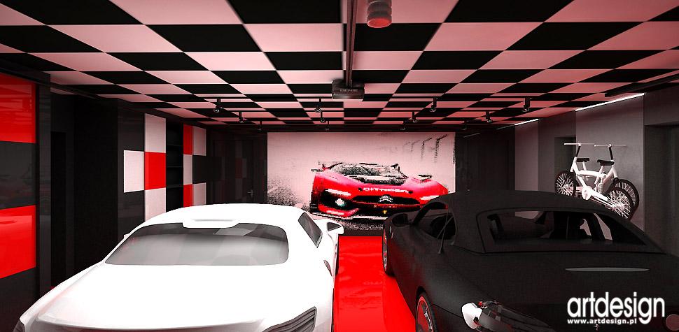 nowoczesne aranżacje czerwono-czarne wnętrza