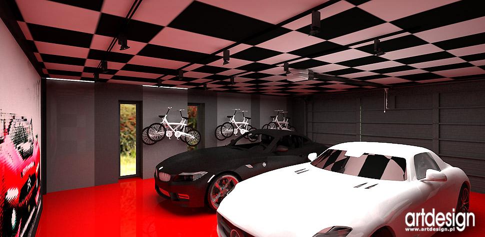 projekty domów garaż