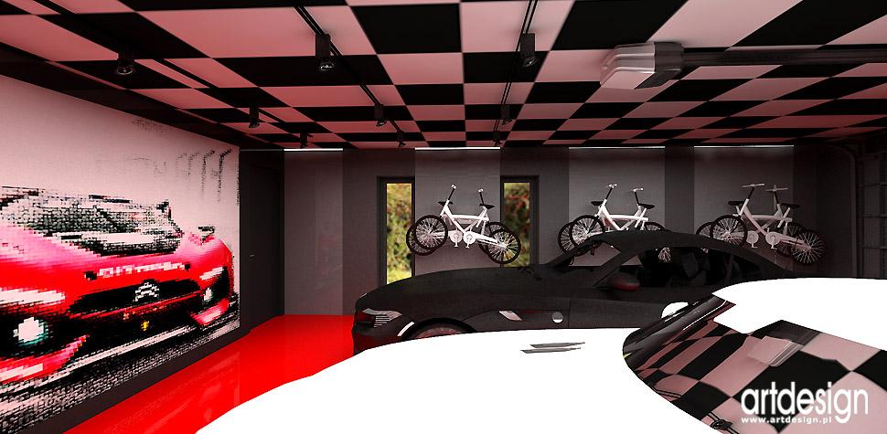 garaż projekt wnętrz