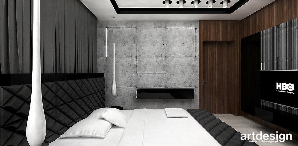 sypialnia surowe wnetrze