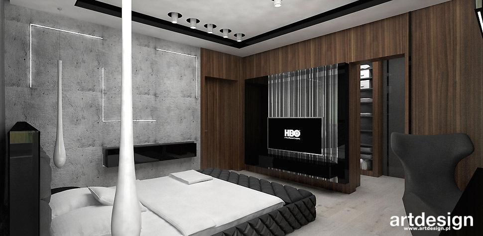 sypialnia beton architektoniczny