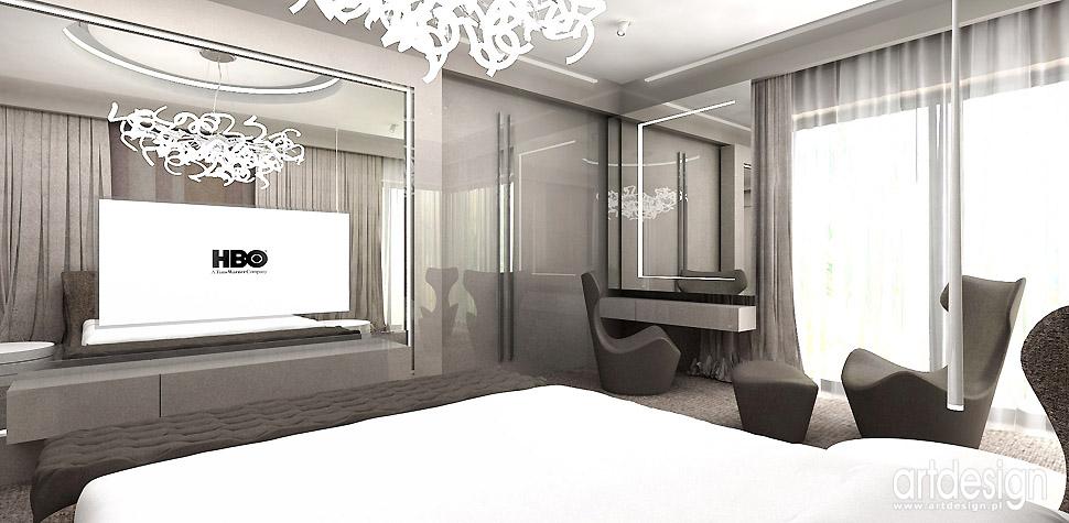 sypialnia luksusowe wnętrza projekty