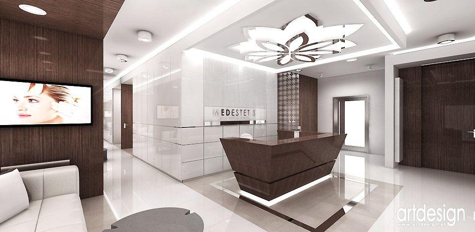 luksusowe wnętrza recepcja poczekalnia centrum medyczne