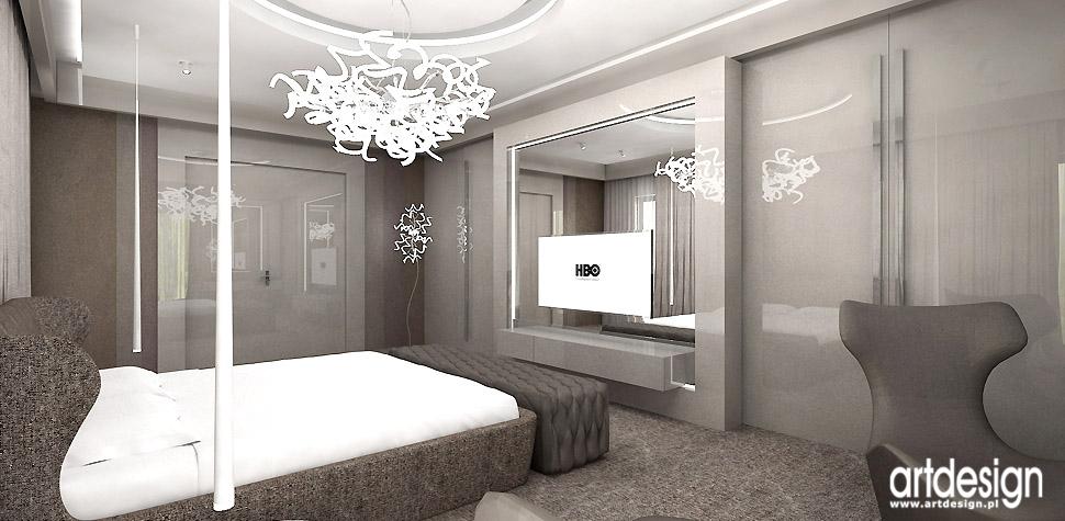 projektanci wnętrz nowoczesna sypialnia