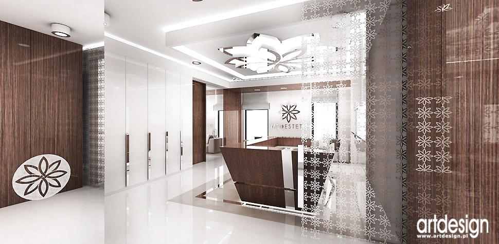 wnętrza gabinety medycyny estetycznej projektowanie