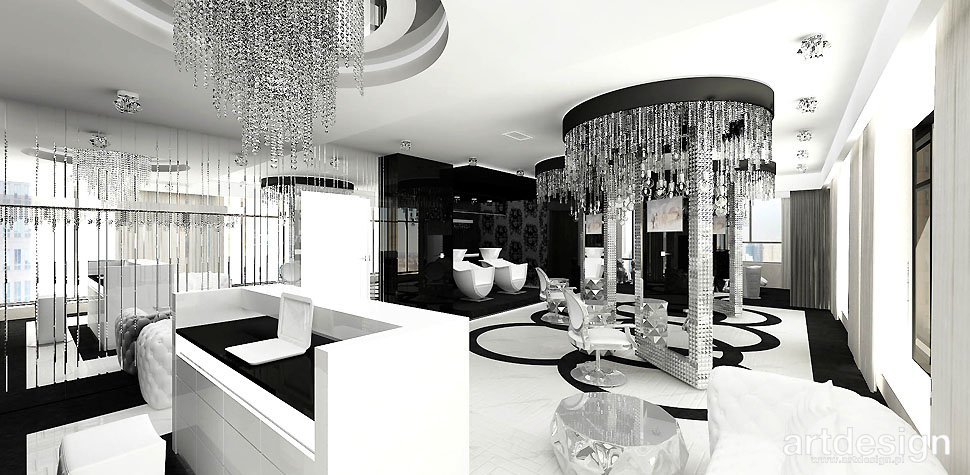 projekt studio urody luksusowe wnętrza