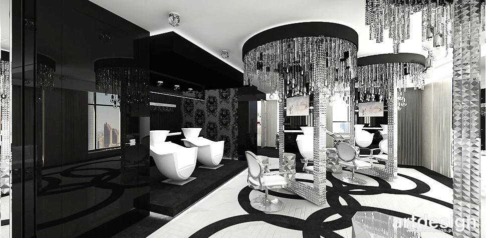 salon fryzjerski wnętrza nowoczesne