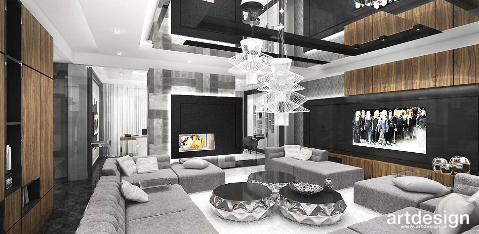 luksusowy salon aranzacja