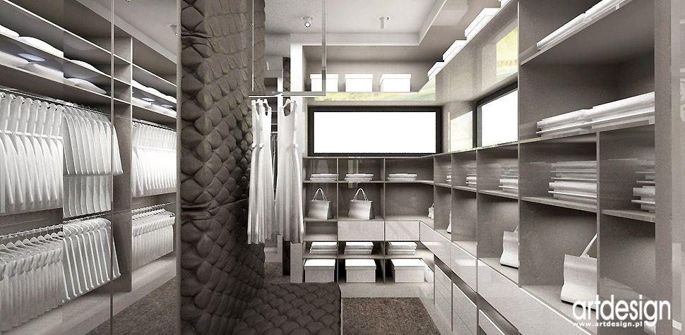 garderoba projekt dom wnętrza
