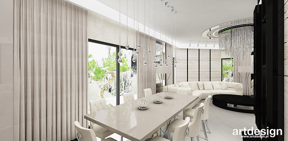 bezowa jadalnia eleganckie wnętrza