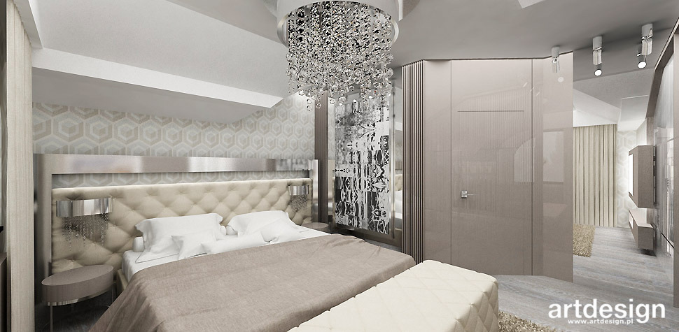 bezowa sypialnia projekt