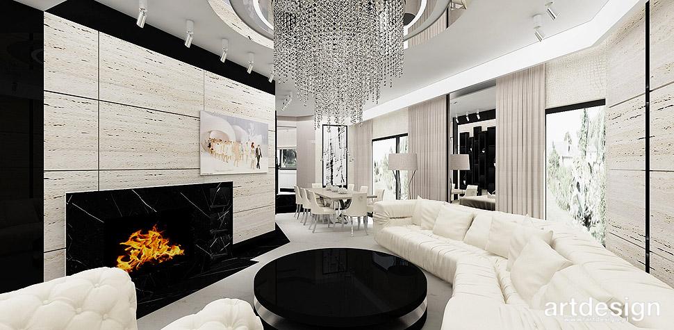 luksusowy dom projekt wnętrz