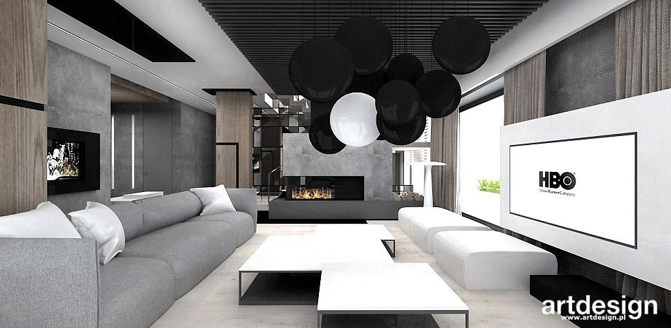 projektowanie wnętrz dom nowoczesny