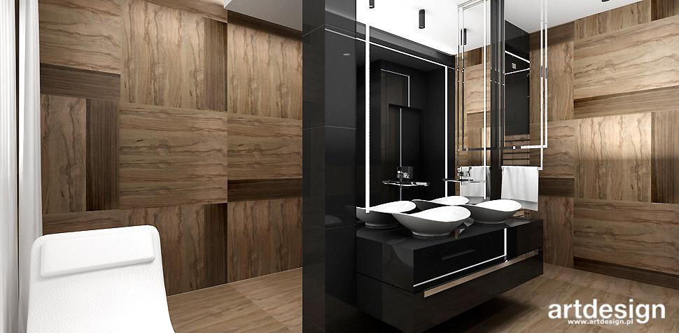 elegancka łazienka drewno