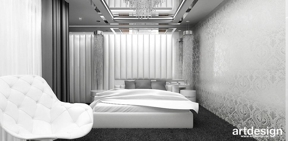 sypialnia lustro nad łóżkiem