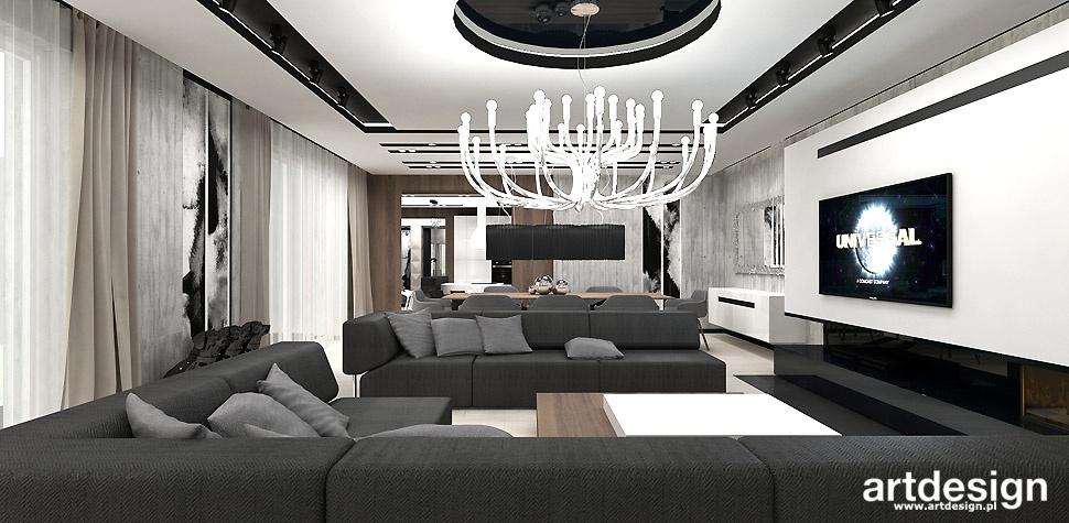 salon projekt architektura wnętrz