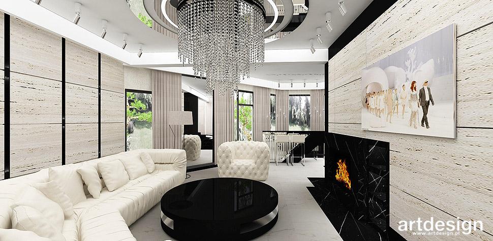 projekt salonu dom wnętrze